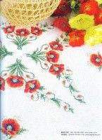"Gallery.ru / irisha-ira - Альбом ""7"" Cross Stitch Designs, Cross Stitch Patterns, Tapestry Design, Cross Stitch Flowers, Handicraft, Table Runners, Poppies, Needlework, Embroidery"