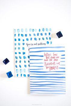 Watercolor Printable Birthday Cards | Stunning watercolor printables make great cards!