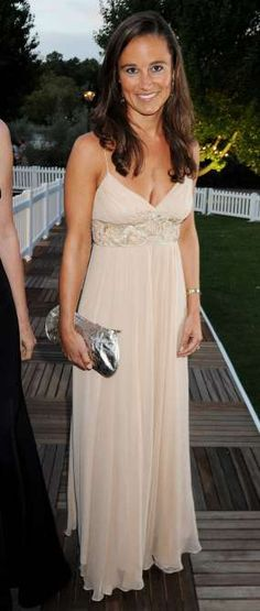 Pippa Middleton's Style Evolution  -  March 31, 2017:    SEPTEMBER 10, 2008  -    Pippa models an elegantly simple tan dress at The Royal Parks Charity Gala in Hyde Park.