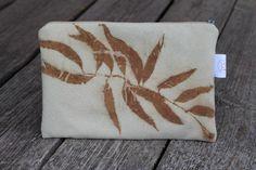 Eco-print clutch silk bag Summer eco friendly Clutch