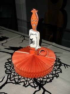 Vintage Halloween Game ~ Beistle Flaming Fortune Game