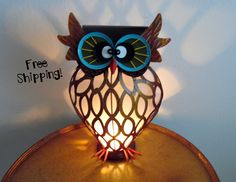 Wacky Lamps art glass rooster accent lamp night light | noodledoo designs