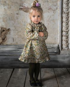 """462 Likes, 13 Comments - Bebe Organic (@bebe_organic) on Instagram: """"Oh hi there, pretty little lady Greta dress - ruffled neckline and hemline with most adorable…"""""""