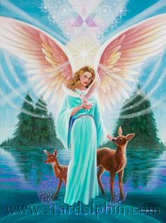 """●••°‿✿⁀Archangels‿✿⁀°••●  ~~Archangel Ariel   Name meaning: """"Lioness of God""""   Assists with courage and prosperity. Archangel Ariel will help us to believe that all things are possible and will help those of us who call upon her to manifest positive results through our beliefs and intentions. Ariel also oversees the elemental world (fairies, sprites etc) and is involved with healing and protecting animals, fish and birds too.   Crystal affinity: Rose Quartz."""