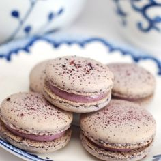 DoubleBlueberry macarons filled with blueberry cream cheese