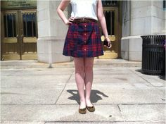 Make a Skirt From an Old Flannel Shirt — Totally Green Crafts