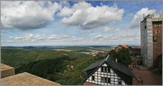 view from wartburg castle over eisenach - castles Photo