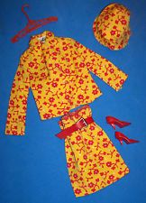Vintage Barbie Travel Togethers #1688 Complete Outfit Hat Red CT Heels 1967