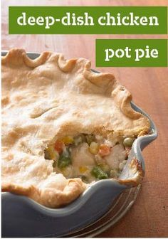 Deep-Dish Chicken Pot Pie – A flaky crust surrenders to a warm veggie-and-chicken mixture infused with a savory sauce. Even better, this makeover is smarter than the classic version. Dig Deep.