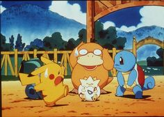Pikachu Psyduck Togepy Squirtle In The Animated Movie Pokemon:The First Movie Ph Pokemon Puns, Pokemon Film, Pokemon Movies, Pokemon Games, Nintendo Switch, Nouveau Pokemon, Moon News, Films Marvel, Nintendo Console