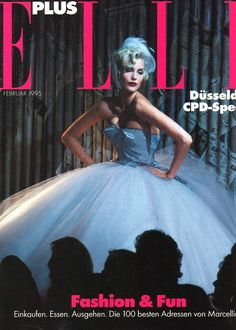 1995 - John Galliano show - Nadja Auermann Elle cover