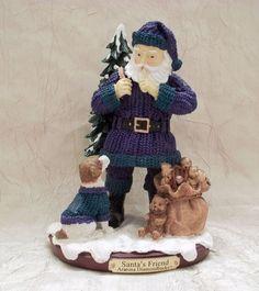 Santa's Friend Arizona Diamondbacks Figurine Memory Company MLB Santa with Dog #MemoryCompany #ArizonaDiamondbacks