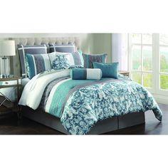 Adeline Embroidered 10-piece Comforter Set - Overstock Shopping - Great Deals on Comforter Sets