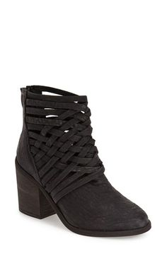 Free shipping and returns on Free People 'Carrera' Bootie (Women) at Nordstrom.com. Crisscrossed straps heighten the vintage aesthetic of a caged bootie crafted from weathered leather and lifted by a chunky stacked heel.