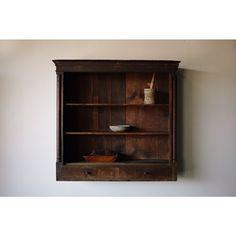 Primitive Treen Shelf, 19th C. #galeriehalf