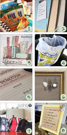great ideas - love the menu planner frame
