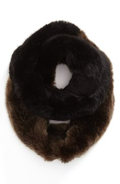 Faux fur infinity scarves are all the rage this season.