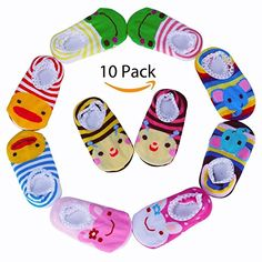 Ages 1-3 Years Warm And Windproof 3 Pack The Cheapest Price Animal Face Non-slip Toddler Socks