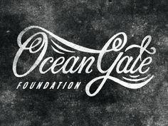 Ocean gate Foundation graphic #logo #lettering #calligraphic