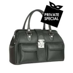 Secret 50% OFF Special not accessible from our public site. Use code: PLATINUMCODE. Limited time only. For a polished edge to your look this structured doctor style leather handbag is roomy enough to hold all your necessities and comes in a host of shades with silvertone detail accents. Dust bag included Made in Italy Handles: Double Leather handles Handle drop: 4.7512cm Hardware: Silvertone metal Lining: Synthetic Leather Pockets: 1 compartment   1 zip pocket Closure: Keylock Buckle