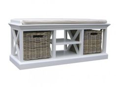 Coastal Storage Bench Seat & Cushion by Balmoral Designs. Get it now or find more Dining Benches at Temple & Webster. Rustic Storage Bench, Storage Bench With Baskets, Entryway Bench Storage, Cubby Storage, Storage Area, Traditional Benches, Rustic Baskets, Rattan Basket, Bench Cushions