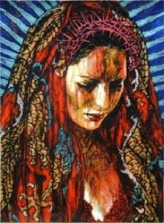"""""""It is only on the condition of humility and reverence before the world that our species will be able to remain in it."""" William Berry  Art  -  Madonna by George Yepes"""