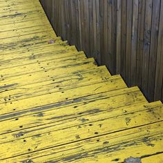 #yellow textured stairs!  #happyathometip:  Do not ignore the stairs inside or outside your home. Paint your stairs in a fun happy colour to up the wow factor in your home. It will instantly bring a smile to your face and make your day brighter!