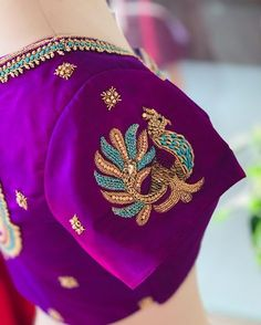 "MERAKI- The Luxury Boutique on Instagram: ""#designer#blouse#peacocks#kanchivaramsaree#combination#colours#merakicollection"""