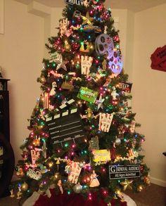 Movie themed Christmas tree