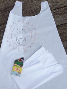 5 Superhero Capes MAKE YOUR OWN Party Favor Kit 5 Blank White Capes Party Craft Activity Includes Fabric Crayons Super Hero Cape. $30.00, via Etsy.
