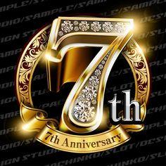 7周年素材 エンブレム形式の素材です。豪華でキラキラPhotoshop素材で周年を彩ろう / DLmarket Ad Design, Flyer Design, Branding Design, Logo Design, Anniversary Logo, Certificate Design, 3d Typography, Creative Flyers, Photo Logo