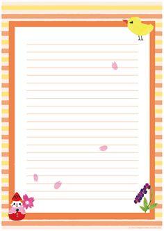 ハンドメイド風便箋(ひよこ・赤ちゃん・すみれ)A4