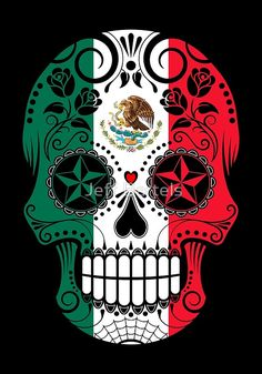 Sugar Skull with Roses and Flag of Mexico Art Print by jeff bartels Sugar Skull with Roses and Flag of Mexico by jeff bartels The post Sugar Skull with Roses and Flag of Mexico Art Print by jeff bartels appeared first on Deutschland. Mexican Flag Tattoos, Indian Tattoos, Caveira Mexicana Tattoo, Los Muertos Tattoo, Mexico Tattoo, Tribal Rose, Tattoo Son, Mexican Flags, Filipino Tattoos