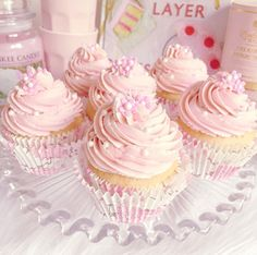 Pretty pink cupcakes.
