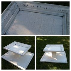 Cupcake tray made from old picture frames
