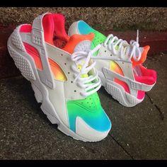 colorful rainbow huaraches