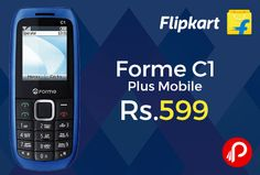 Flipkart is offering 14% off on Forme C1 Plus Mobile Just at Rs.599. 32MB RAM, 32MB ROM, Expandable Upto 16 GB, 1.44 inch QVGA Display, 0.3MP Primary Camera, 950 mAh Battery,  http://www.paisebachaoindia.com/forme-c1-plus-mobile-just-at-rs-599-flipkart/