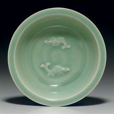 A 'kinuta' longquan celadon 'twin fish' dish. Southern Song dynasty, (1127-1279). Photo: Christie. Provenance: The Late Chingwah Lee Collection; Sotheby's, Los Angeles, 8 June 1981