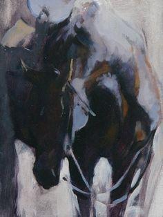 Saddled by Sally Martin Oil ~ 8inch x 6inch