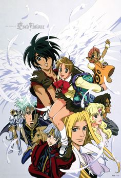 // Escaflowne Version: TV // Type of item: Poster // Company: RightStuf // Release: 2-016 // Other notes: Limited and Exclusive to backers of the Kickstarter campaign at Tiers: The High Priestess, The Moon, The World, The Lovers, The Empress, & The Emperor //