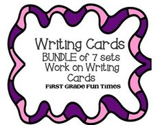 D5 Work on Writing - Writing Cards - BUNDLED - First 7 SETS