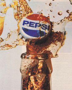 Pepsi ad, 1980s Pepsi Ad, Coca Cola Poster, Coke, Cola Wars, Creative Advertising, Old Ads, Retro Aesthetic, Cultura Pop, Retro Art