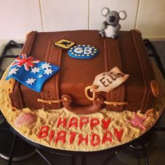Australian Themed Briefcase Cake