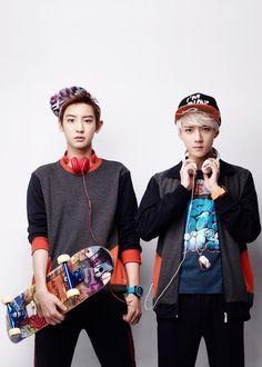 EXO_chanyeol and sehun