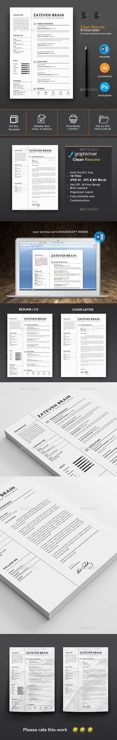 resume stationery design