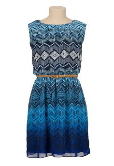 Belted tribal print dress (original price, $44) available at #Maurices