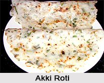 Akki roti is made with rice flour and is an everyday food from Karnataka cuisine. It is served with chutney either for breakfast or lunch. For the recipe visit the page. #food #recipes #vegetarian
