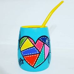 Mate pintado a mano Catus, Painted Pots, Pottery Painting, Wooden Boxes, Painting Inspiration, Paper Cutting, Mary, Create, Painted Trays