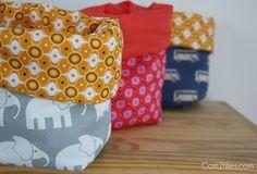 Petits vides poches tissus pour jolis cadeaux de naissance !