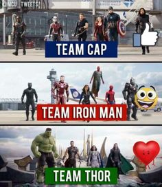 What team are you on? - For me it's team Cap. - Visit to grab an amazing super hero shirt now on sal